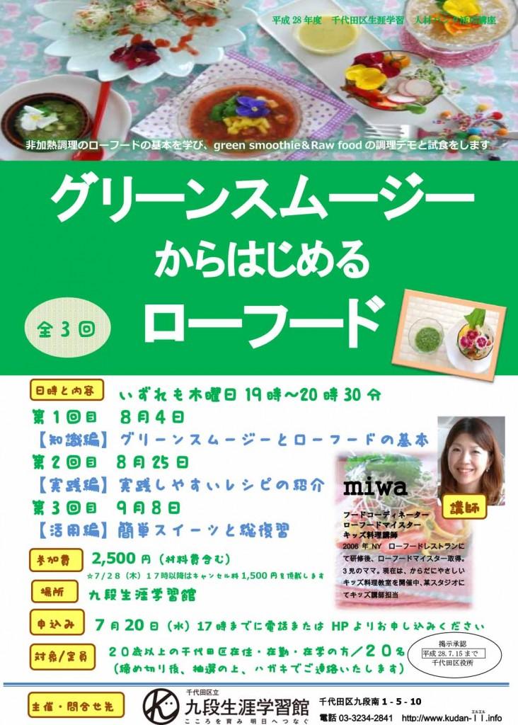 (ローフード)ポスター 2016